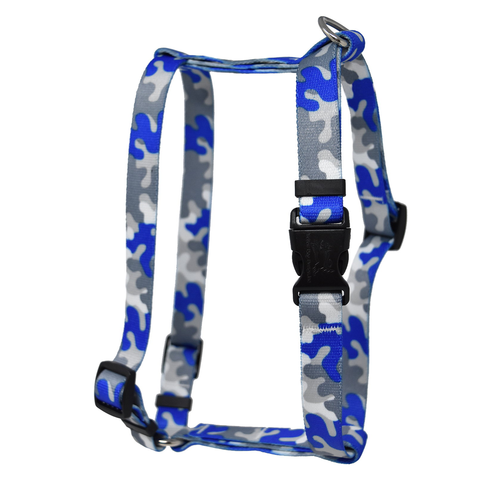 Royal Blue & Silver Camo Roman H Harness
