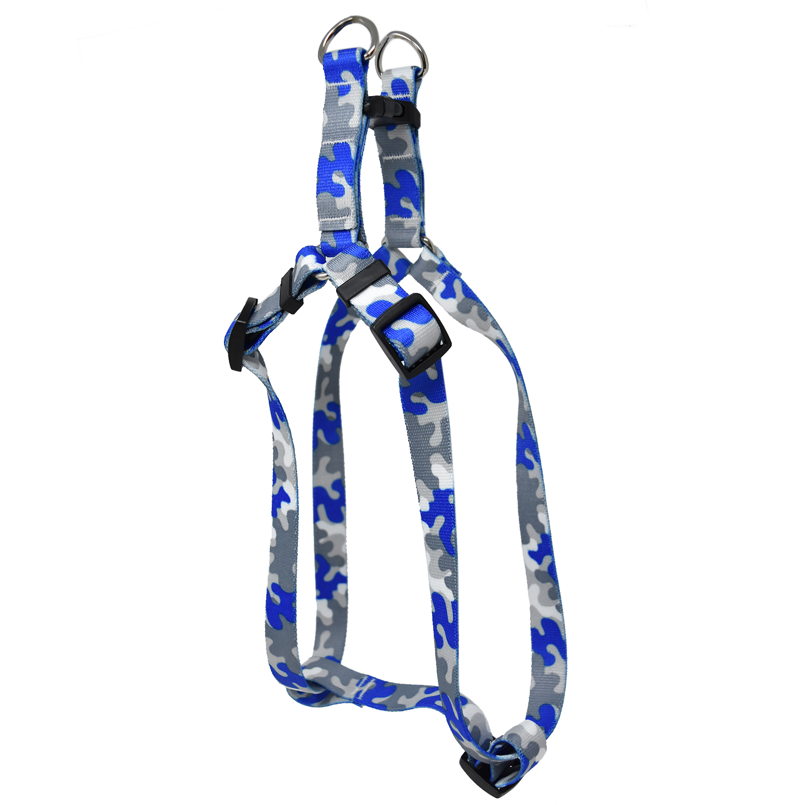 Royal Blue & Silver Camo Step-In Harness