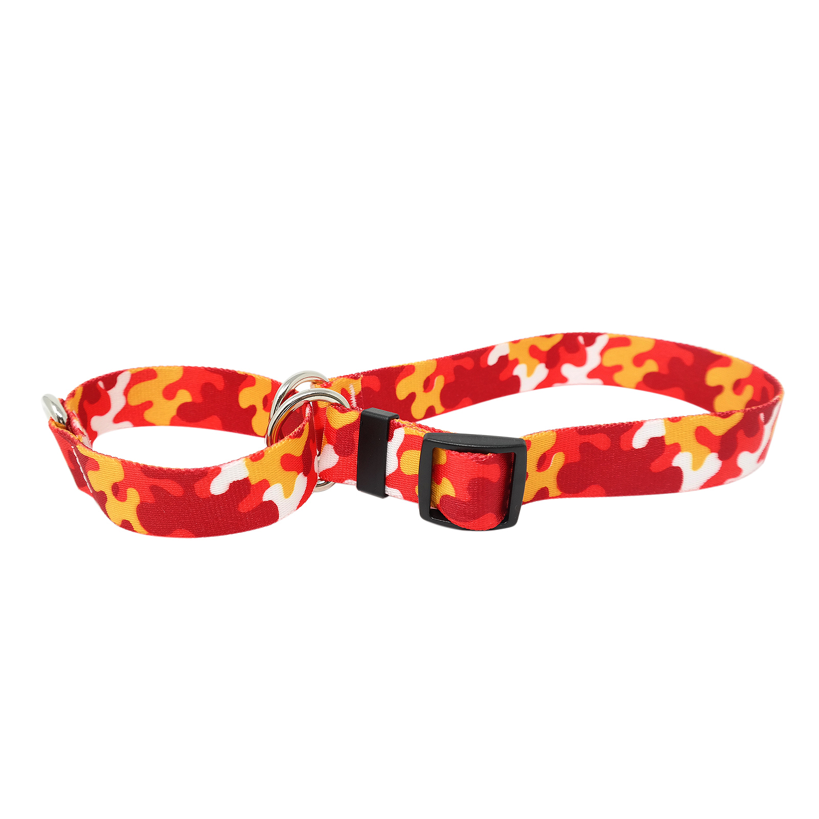 Red & Gold Camo Martingale Collar