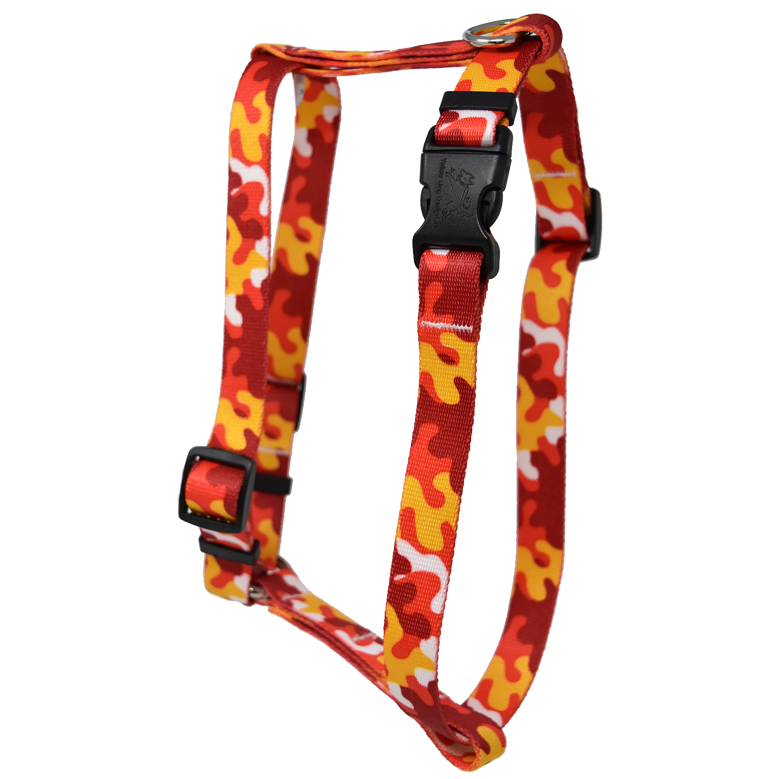 Red & Gold Camo Roman H Harness