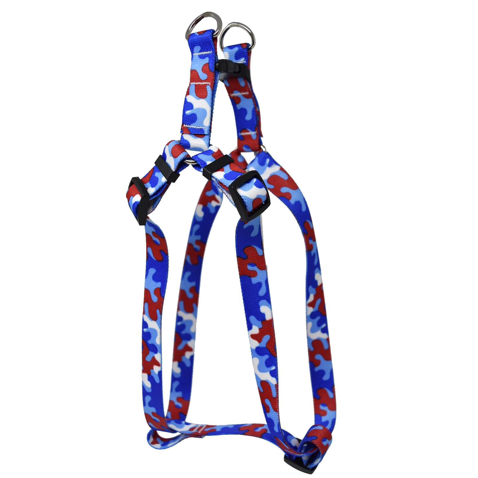 Red & Royal Blue Camo Step-In Harness
