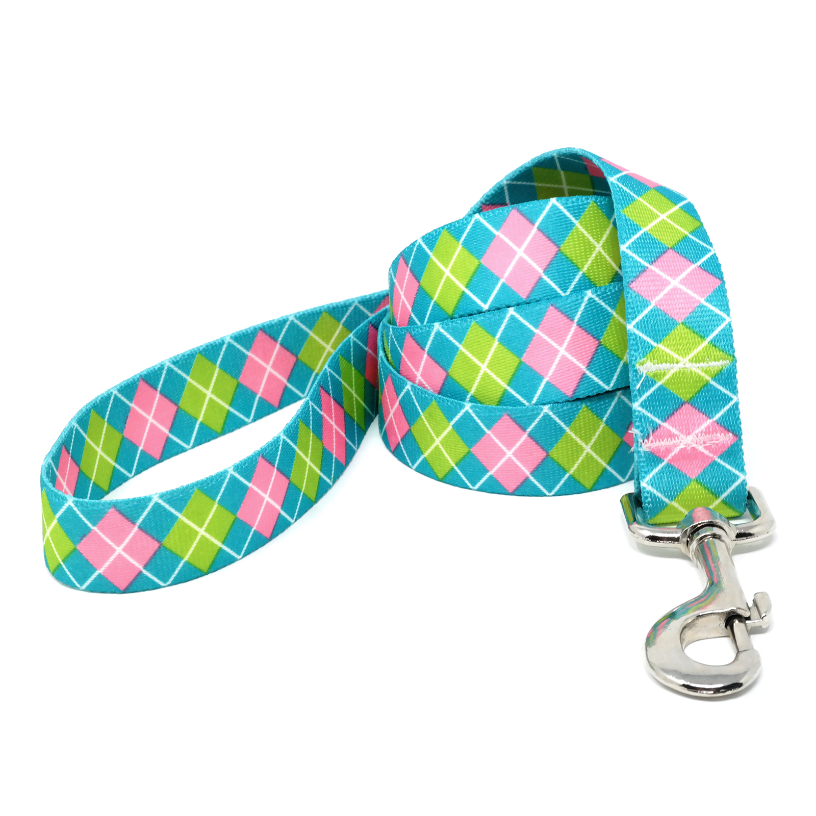 Teal & Pink Argyle Lead