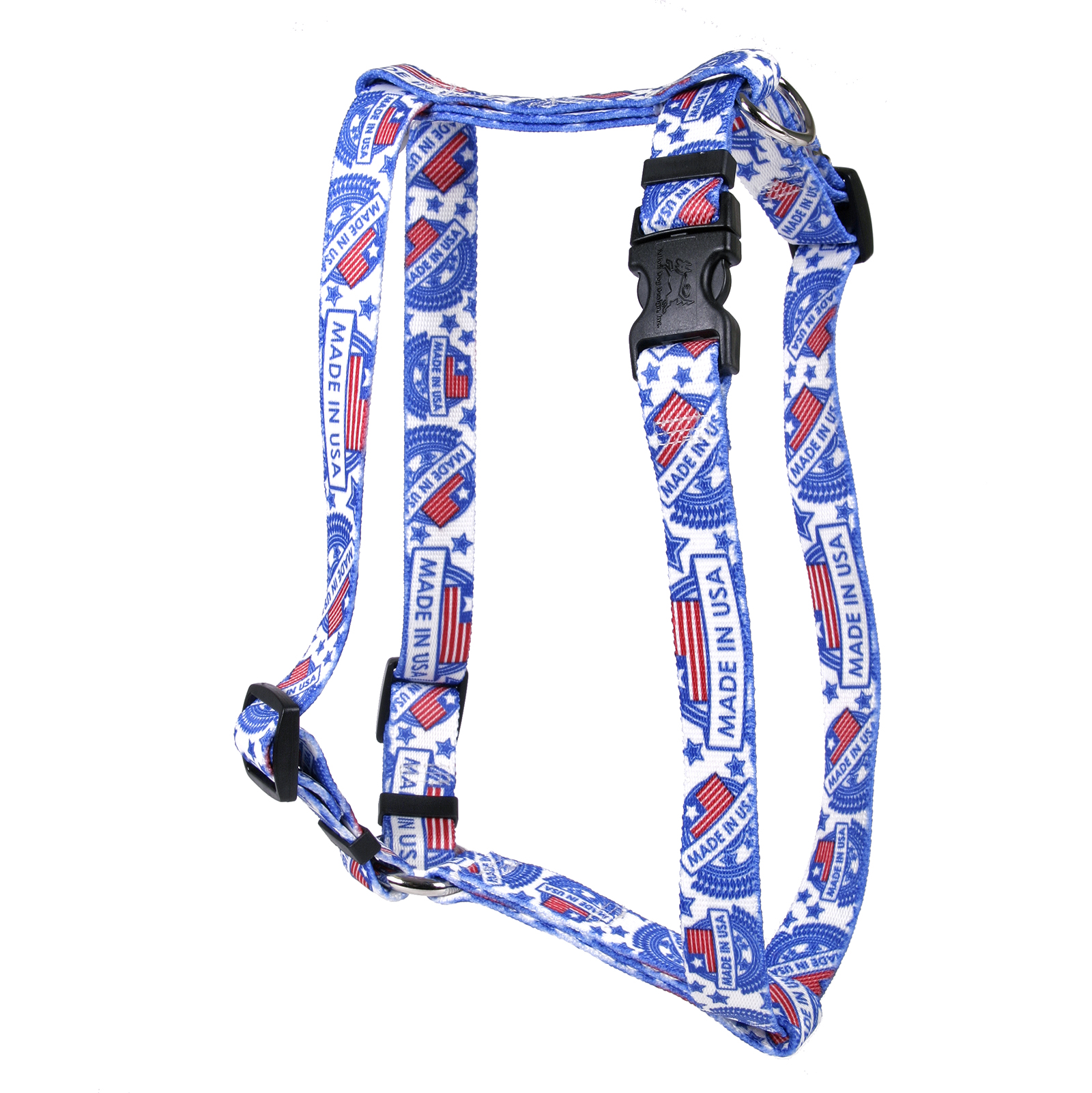 Made in USA White Roman H Harness