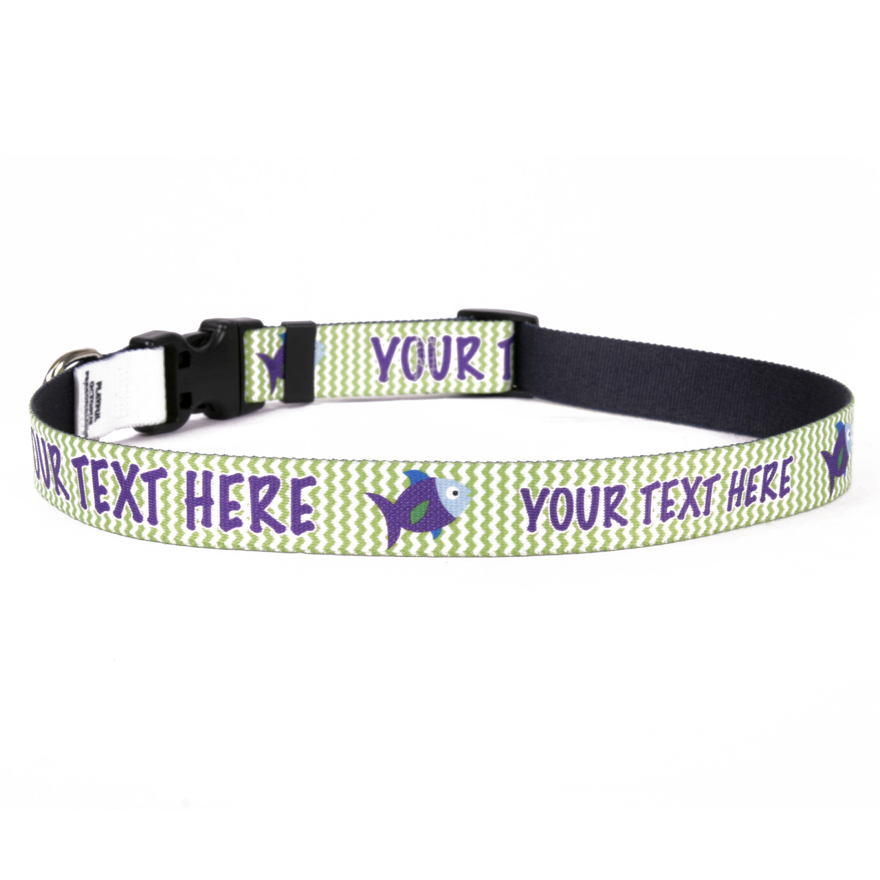 YDiD Personalized Fishtales Dog Collar