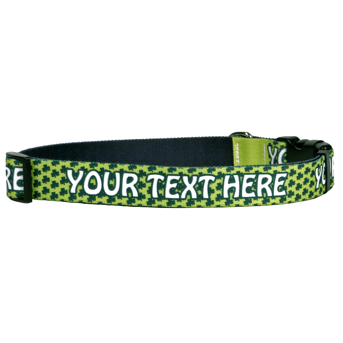 YDiD Personalized Petite Shamrock Dog Collar