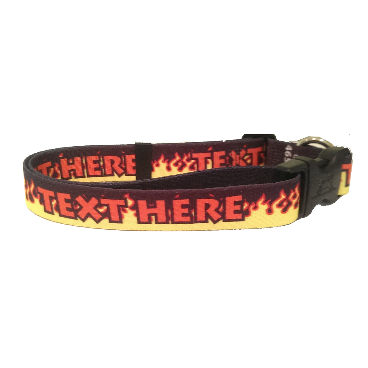 YDiD Personalized Red Flames Dog Collar