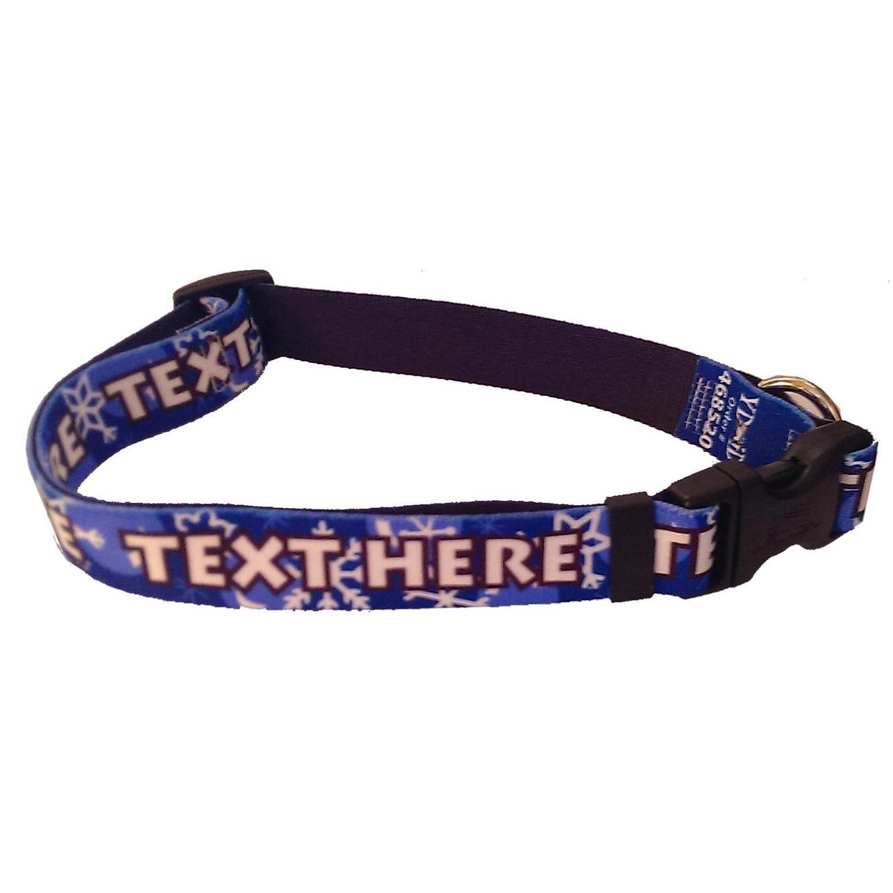 YDiD Personalized Winter Wonderland Dog Collar