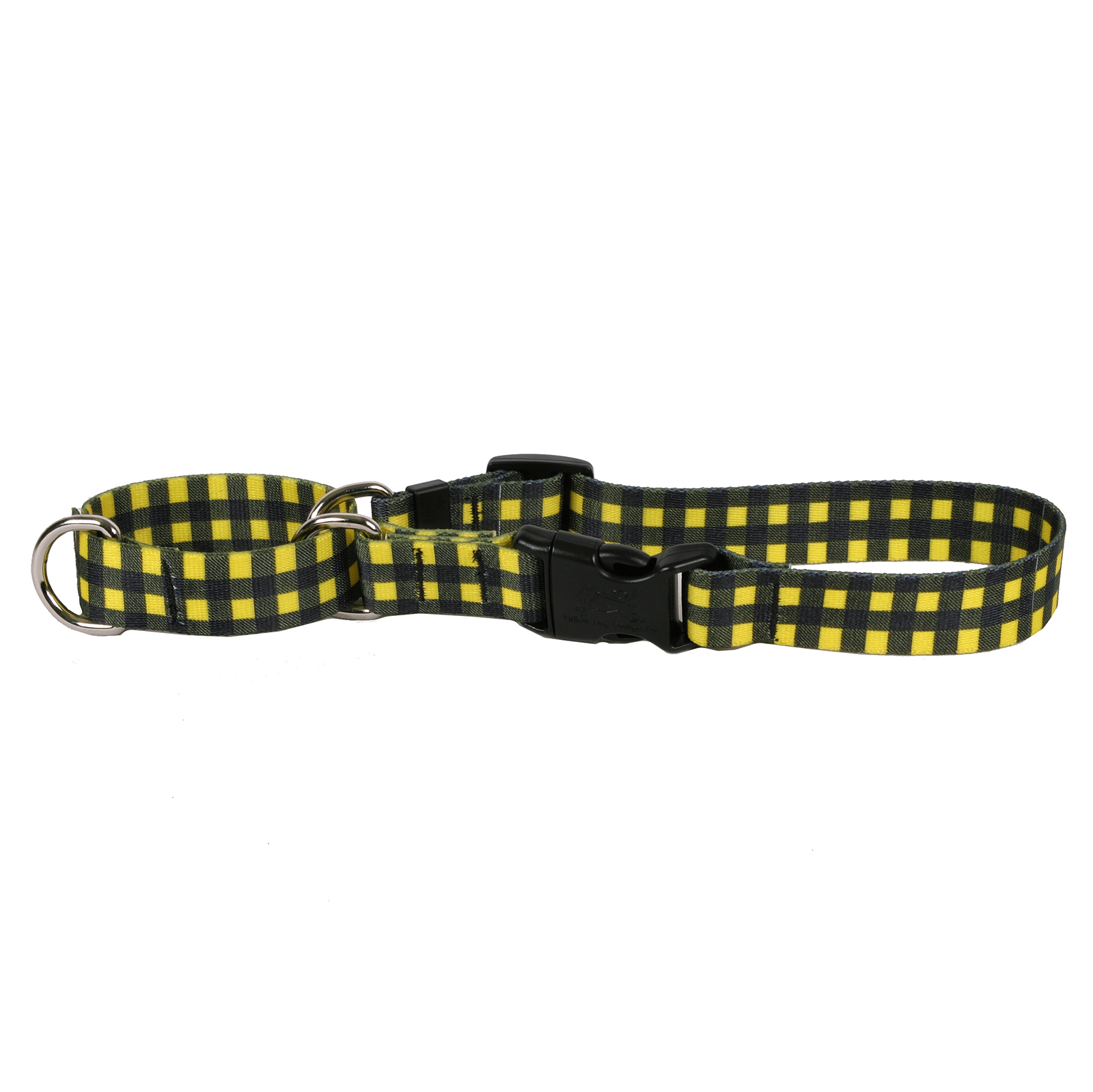 Buffalo Plaid Yellow Martingale Collar