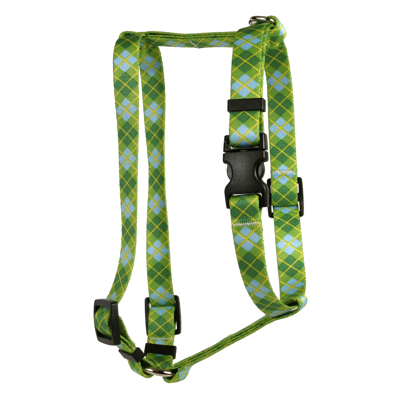 Argyle Green Roman H Harness
