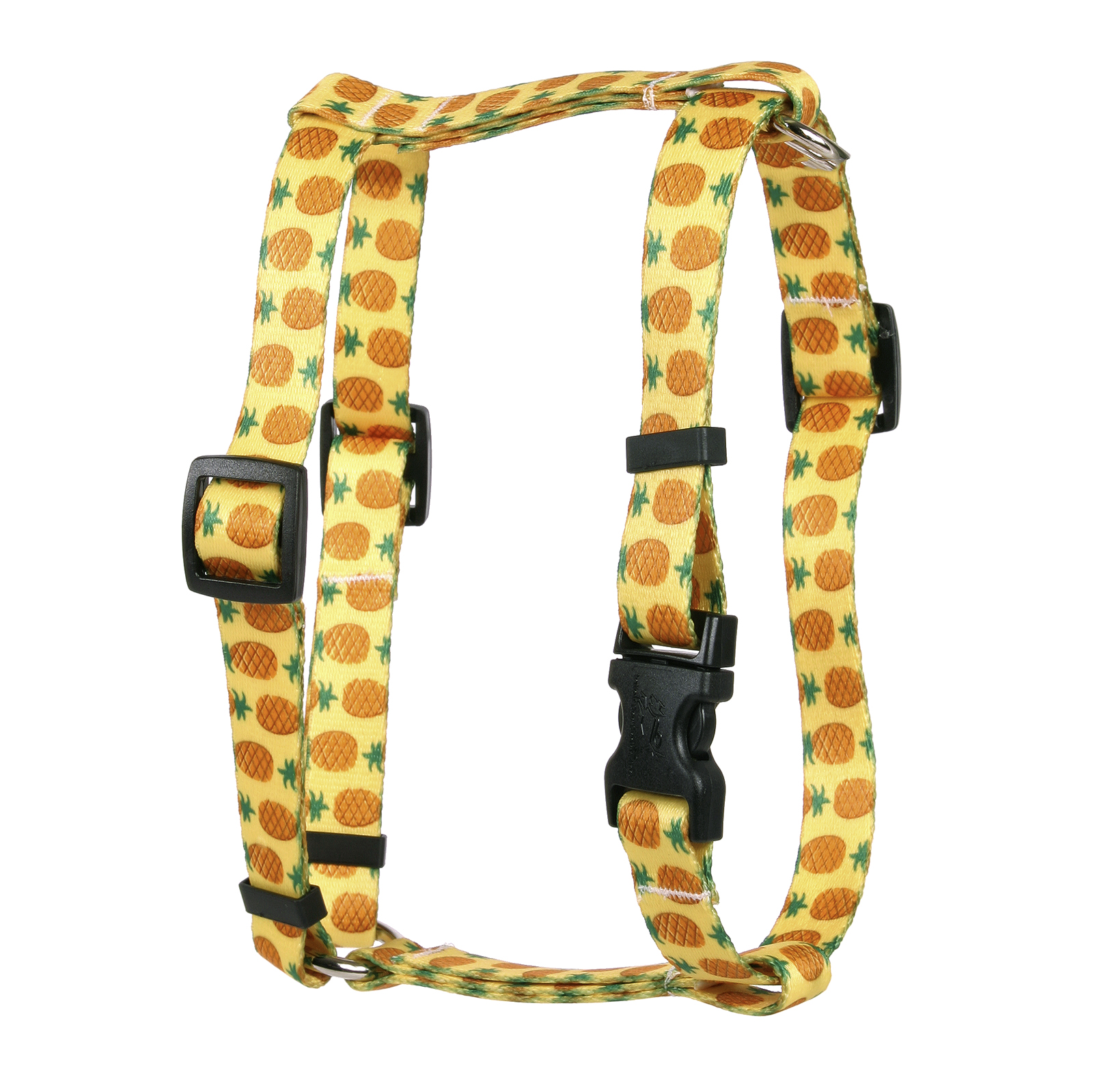 Pineapples Yellow Roman H Harness