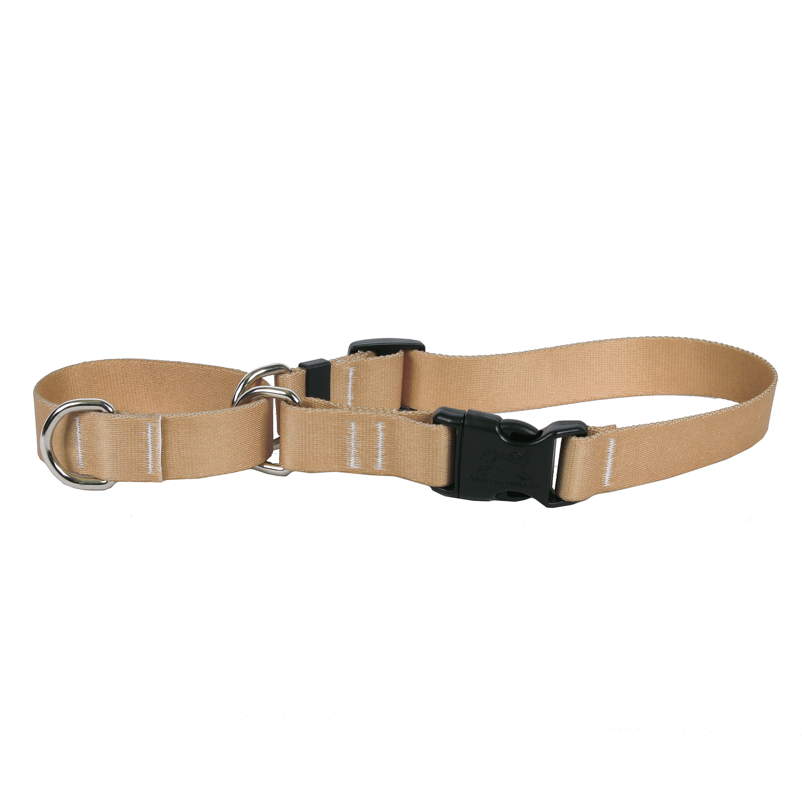 Tan Simple Solid Martingale Collar