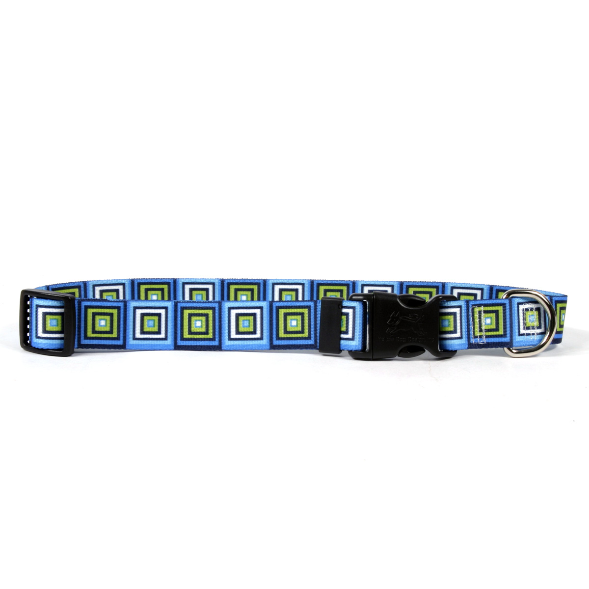Blue Blocks Standard Dog Collar