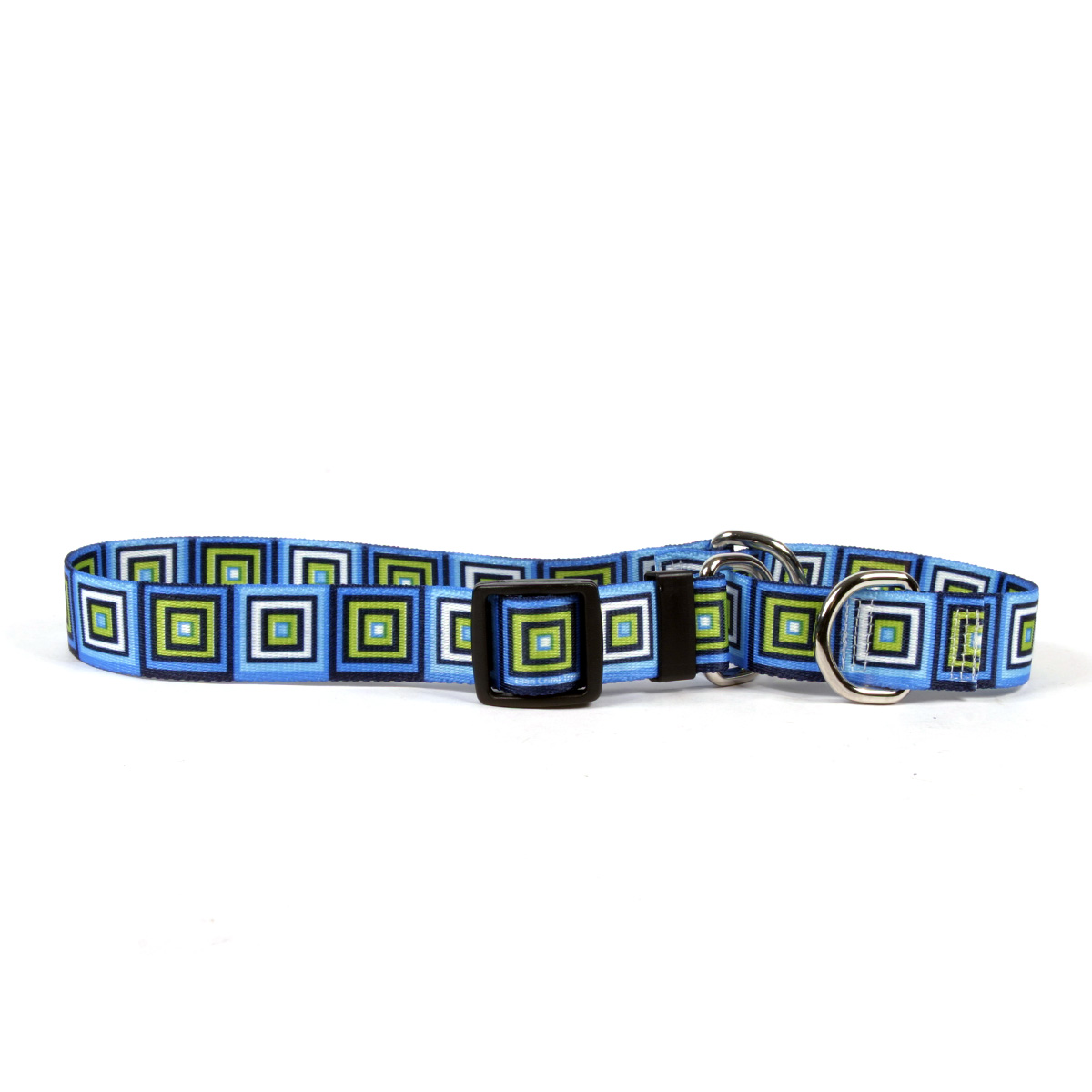 Blue Blocks Martingale Collar