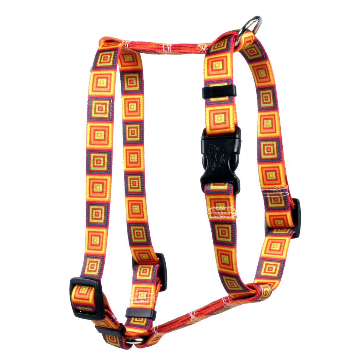 Orange Blocks Roman H Harness