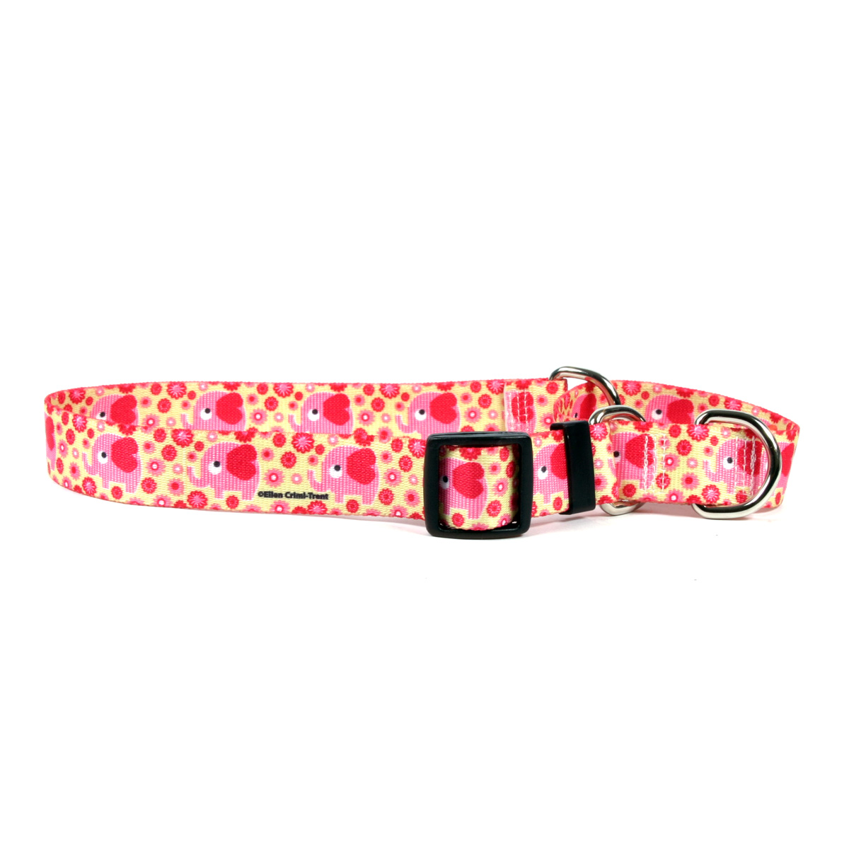 Pink Elephants Martingale Collar