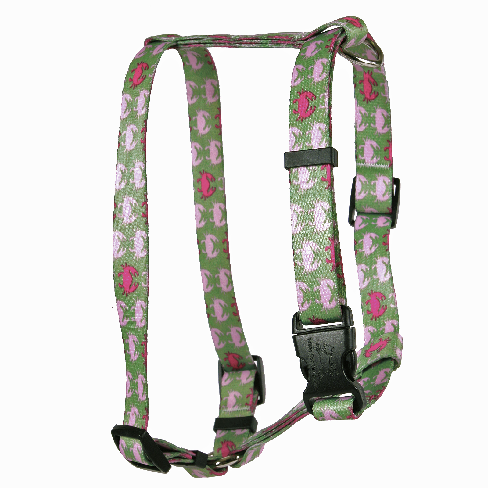 Pink Crabs Roman H Harness
