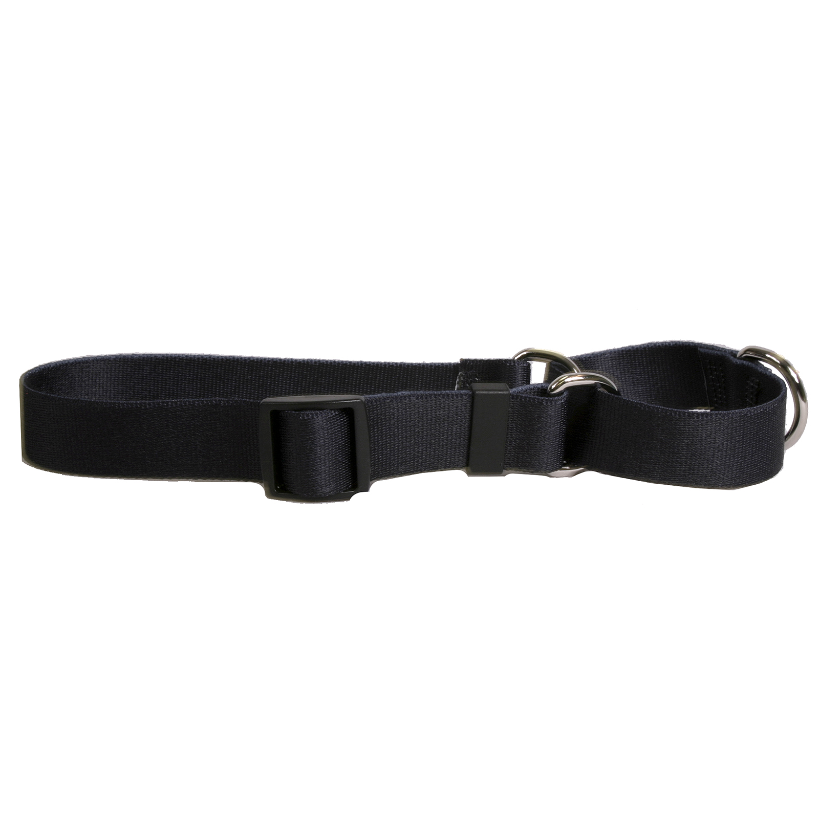 Solid Black Martingale Collar