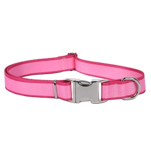 Sterling Stripes Collection Light Pink and Magenta Dog Collar