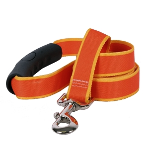 Sterling Stripes Collection Orange and Goldenrod EZ-Grip Dog Lead