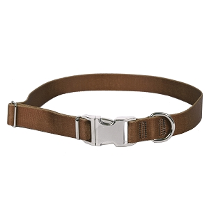 Sterling Solid Collection Brown Dog Collar