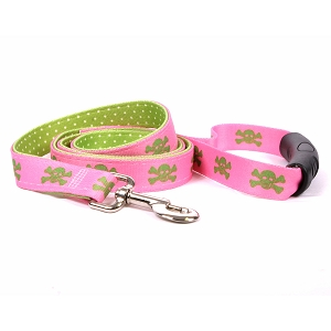 Pink and Green Skulls Uptown Lead