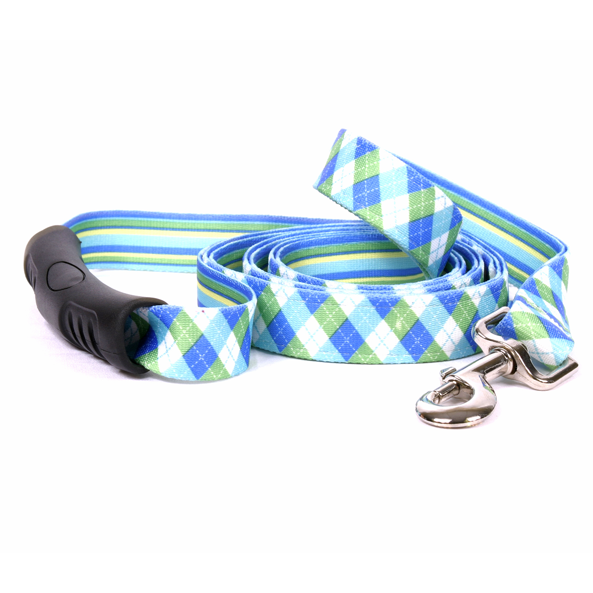 Blue and Green Argyle Uptown Lead
