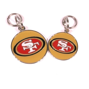 SF 49ers Engraved Pet ID Tag