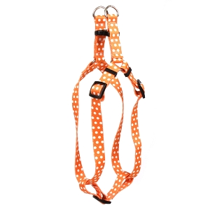 Orange Polka Dot Step-In Harness
