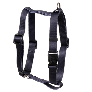 Solid Black Roman H Harness