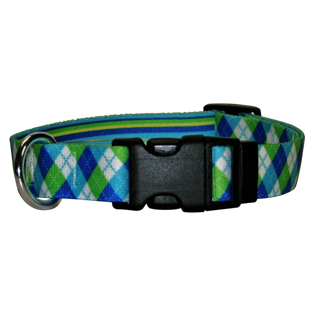 Blue and Green Argyle Standard Collar