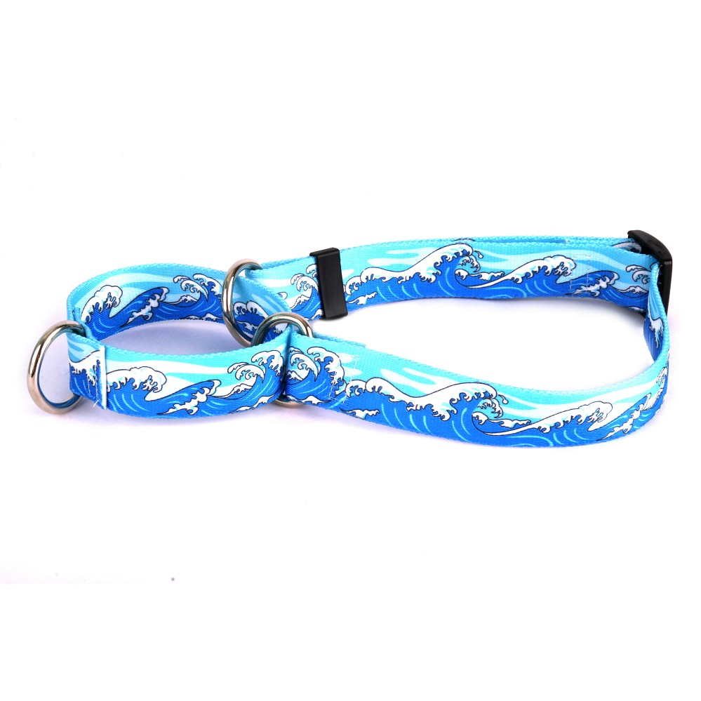 Mystic Waves Blue Martingale Collar