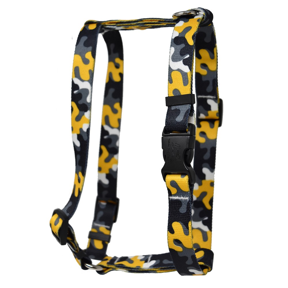 Black & Gold Camo Roman H Harness
