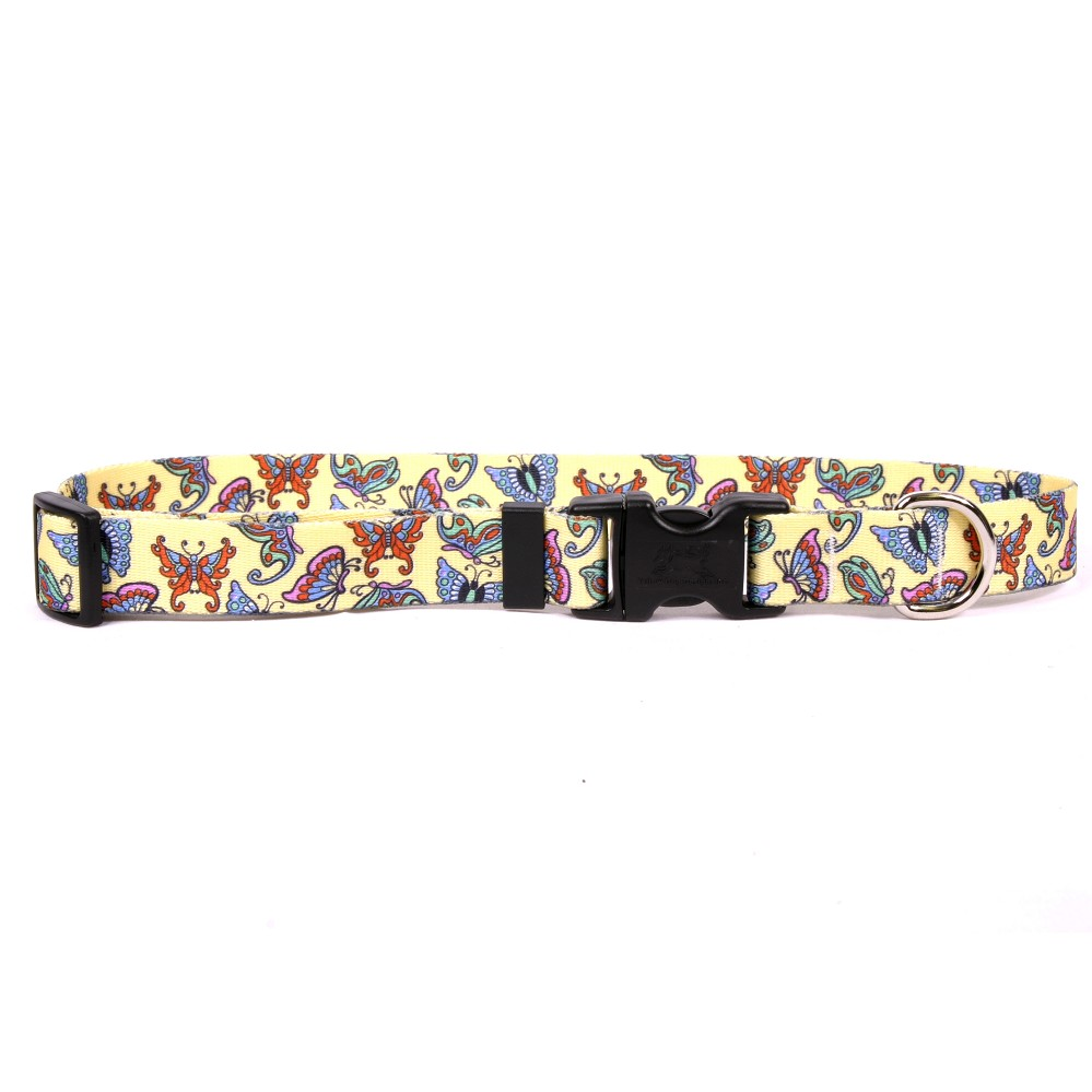 Butterflies on Yellow Standard Collar