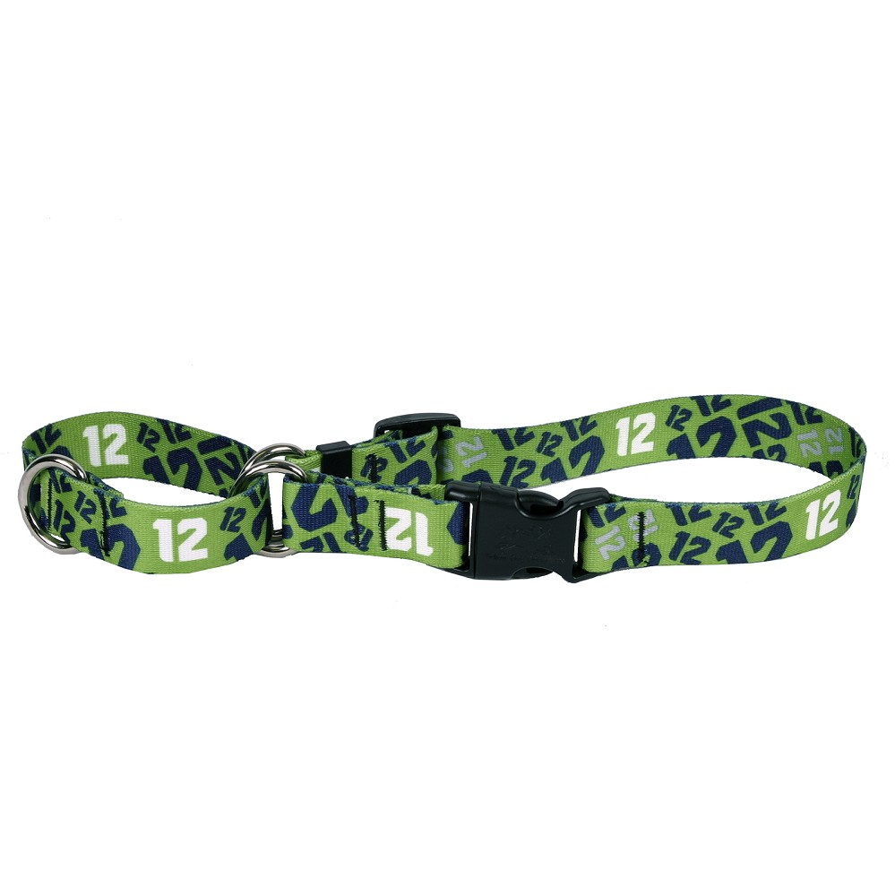 12th Dog Green Martingale Collar