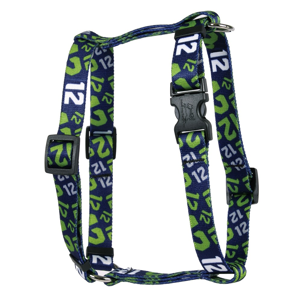 12th Dog Navy Blue Roman H Harness