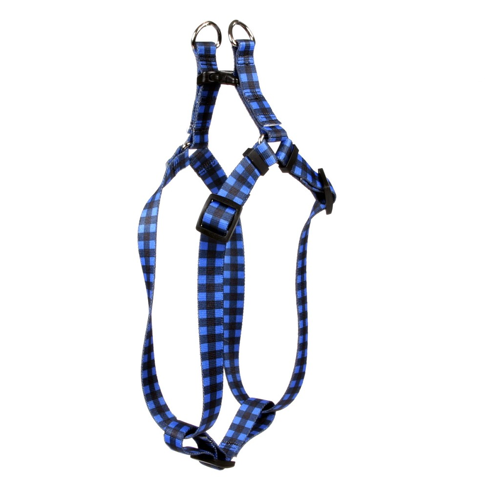 Buffalo Plaid Blue Step-In Harness