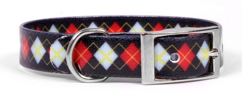Red Argyle Elements Collar