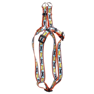 Black and Yellow Dog Step-In Harness