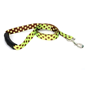 Green and Brown Polka Dot EZ-Lead
