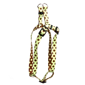 Green and Brown Polka Dot Step-In Harness