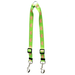 Green and Pink Skulls Coupler Lead