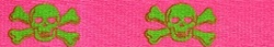 Pink and Green Skulls Martingale Collar