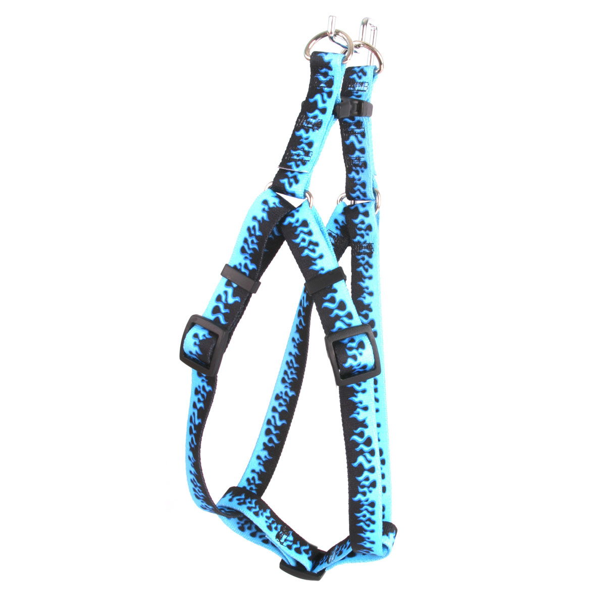 Blue Flames Step-In Harness