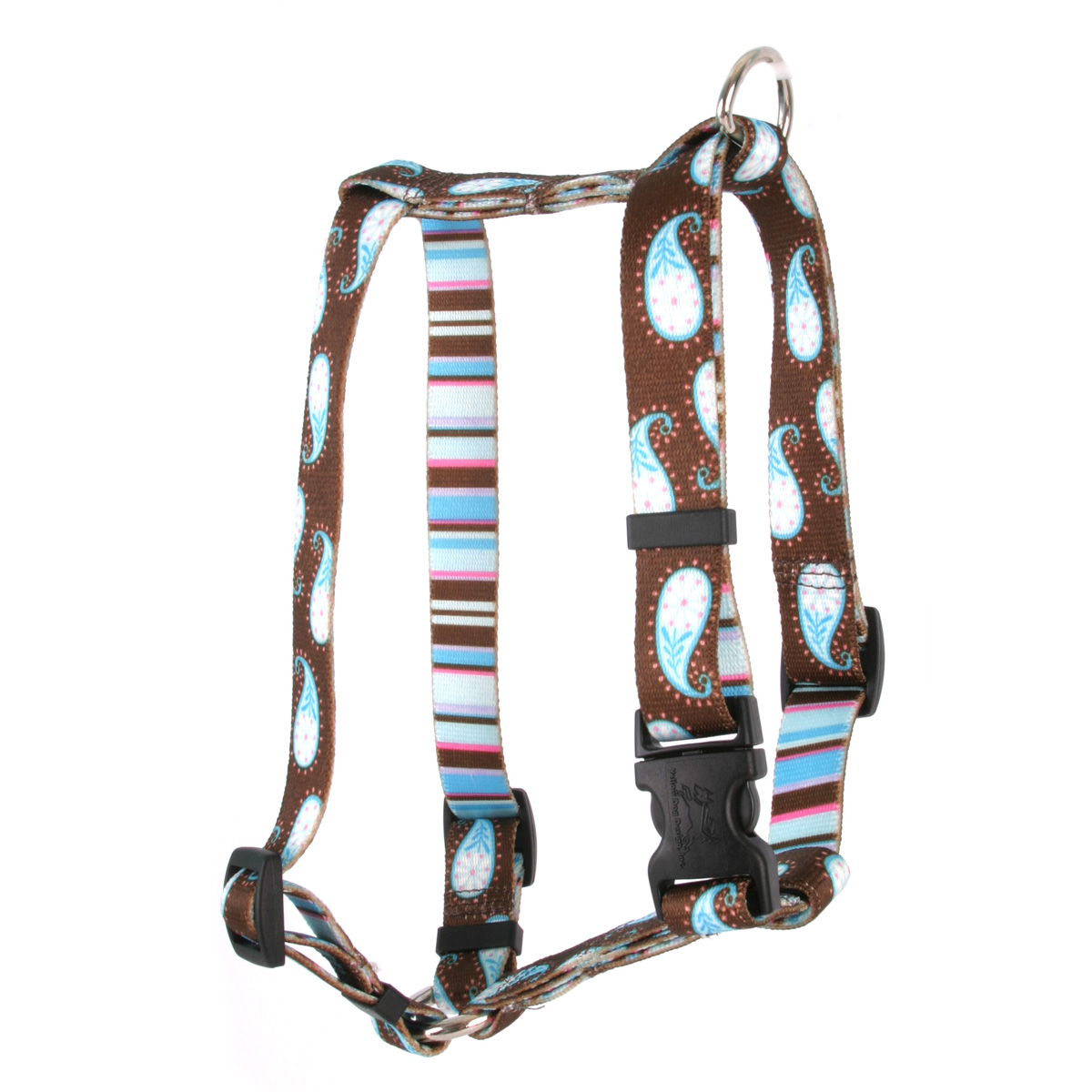 Brown Paisley Roman H Harness