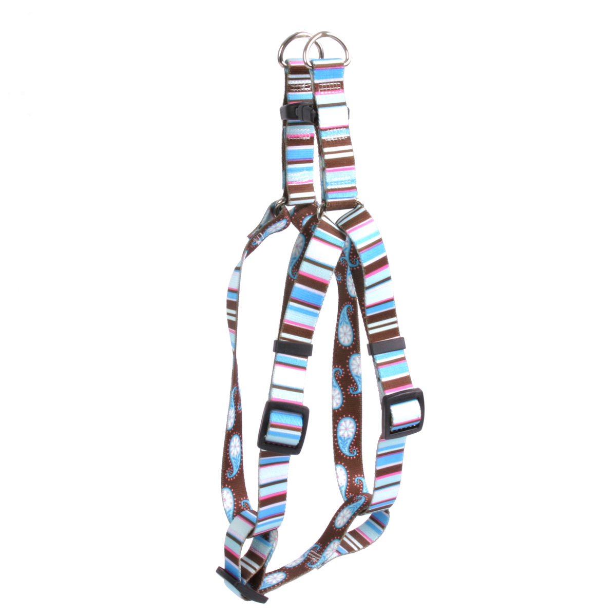 Brown Stripes Step-In Harness