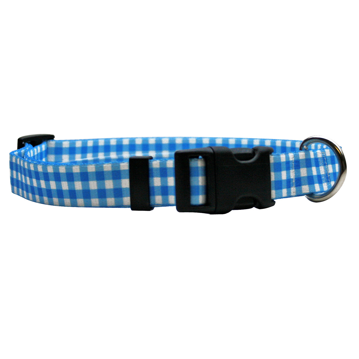 Gingham Blue Standard Collar
