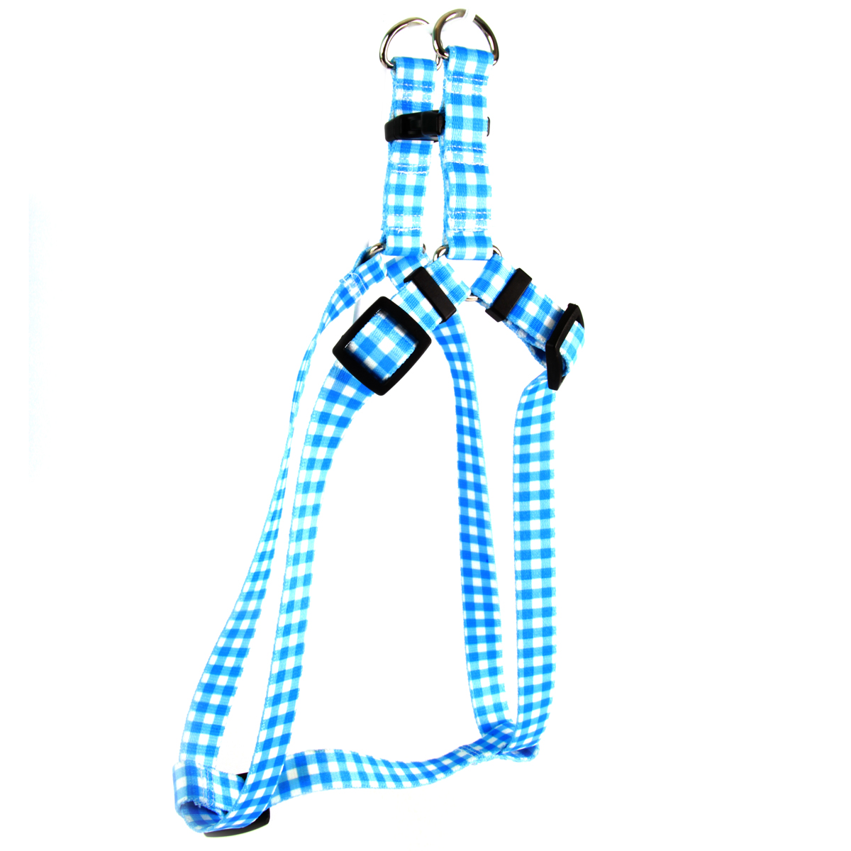 Gingham Blue Step-In Harness