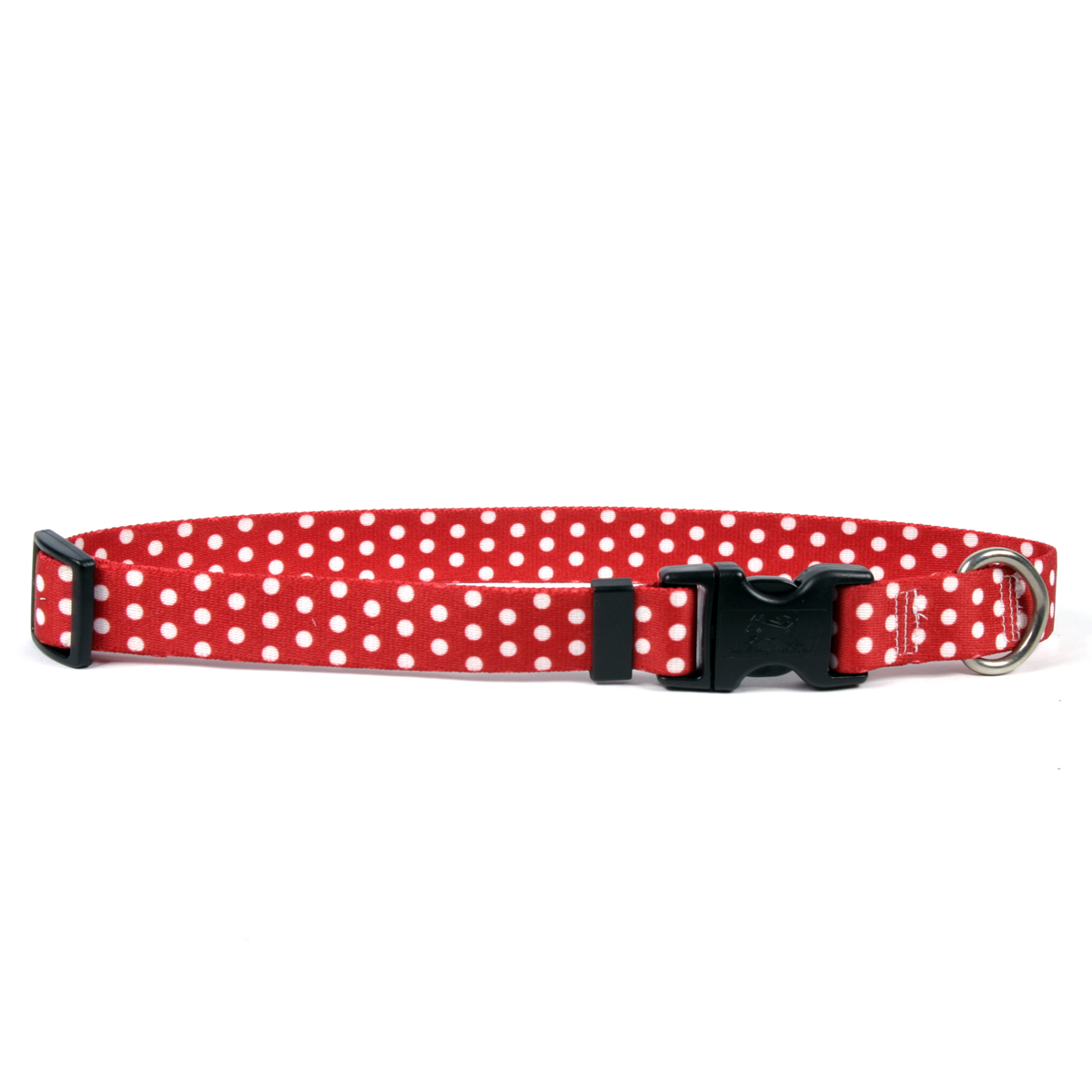 New Red Polka Dot Standard Collar