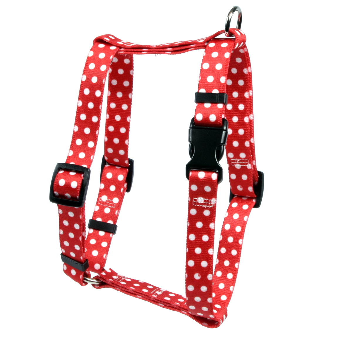 New Red Polka Dot Roman H Harness