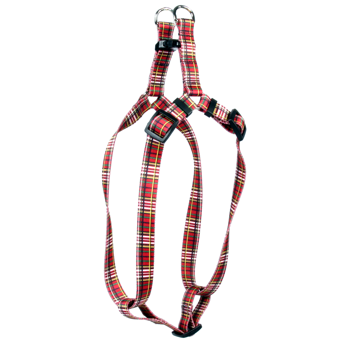 Tartan Red Step-In Harness